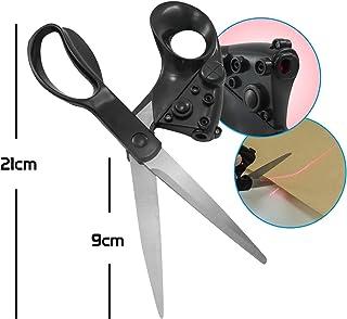 Tesoura com guia laser para corte preciso, ideal para costura e patchwork