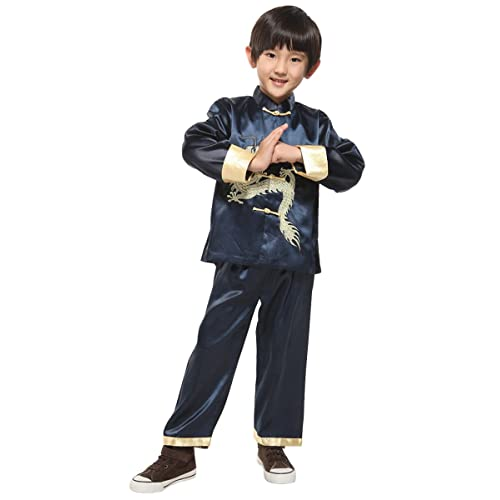Yodensity Boys Tang Suit Embroidered Dragon Kung Fu Outfits Traditional  Chinese Costume 55a52d5b3
