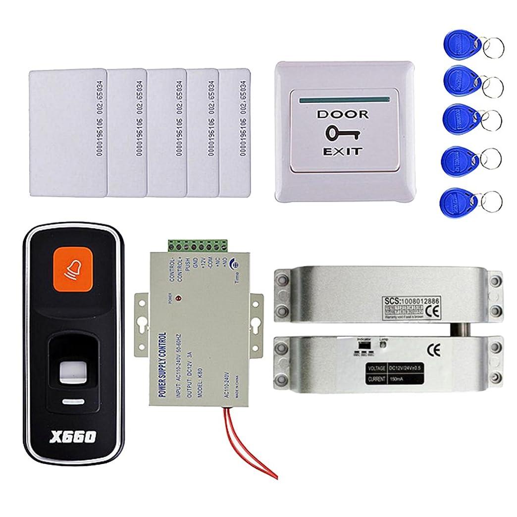 魚れんが木Fenteer 高品質 指紋 RFID IDカード リーダー ドアアクセス 制御システムキット 10キーカード