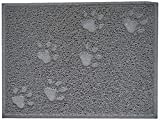 CODICO 6TAP002GR Tapis de Litière Rectangle Impression Patte pour Chat