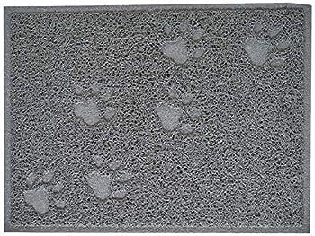 CODICO 6TAP002GR Tapis de Litière Rectangle Impression Patte pour Chat