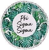Sorority Shop Phi Sigma Sigma - Palm Leaf - Fringe Towel - Blanket