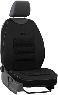 saferide   Sitzauflage Auto Vordersitze Autositzmatte Wasserdicht Autositzbezug Fahrersitz Universal Sitzschutz Kunstleder Schwarz für Airbag geeignet 1 Autositz Vorne