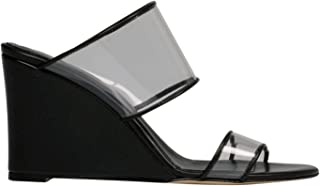 Luxury Fashion | Paris Texas Women PX163LEATHERBLACK Black Leather Wedges | Season Permanent