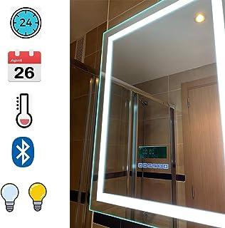 Espejo de baño, 24W + LCD Pantalla(fecha, hora,