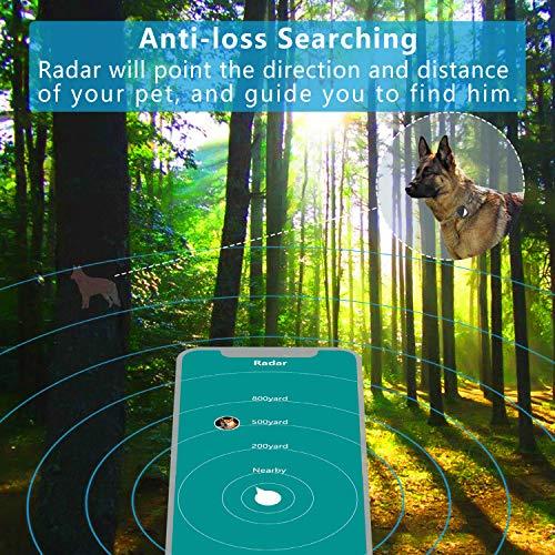 PETFON Cani Animali Localizzatore GPS Nessuna tassa mensile in tempo reale Monitoraggio Anti-perso Smart Finder(Only for Dog)