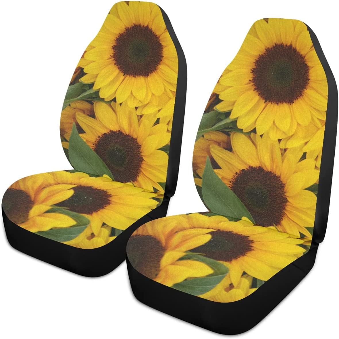 Oarencol Yellow Sunflowers Baltimore Mall Car Ranking TOP17 Seat Front Covers Universal Auto