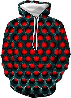 Yd-zx Unisex Chic Men's Casual/Active Hoodie - Color Block / 3D Red Hoodies Pullover Sweatshirts