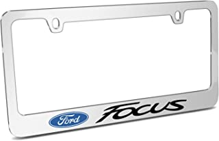 Ford Focus Mirror Chrome Metal License Plate Frame and Official Licensed Product Made in the USA