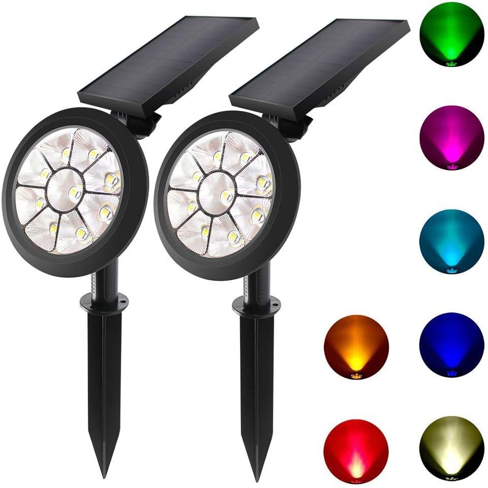 KANYEE Solar High quality Outdoor Spotlights High order Garden Lights LED 2 Pack Sensor
