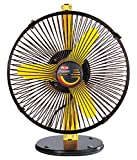Polar Stormy Personal Cabin Fan (230mm,Yellow and Black)