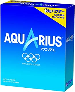 Aquarius Sports Drink Powder, a box of 5 pouches: 1.7oz(48g)/pouch [Japan Import]