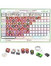 TIMESETL Tabla de Recompensas Magnética para Niños 50 Tareas 60cm x 45 cm Pizarra de Tareas para Pared o Frigorífico