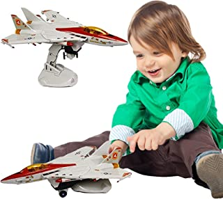 Toy Cubby Military Airplane - Realistic Battery Operated Lights and Sounds F-14 Jet Aircraft - Manufactured by