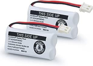 BAOBIAN BT162342 BT262342 Battery Compatible with for BT183342 BT283342 BT166342 BT266342 VTech CS6114 CS6419 CS6719 at&T EL52300 CL80111 Cordless Phone (Pack of 2)