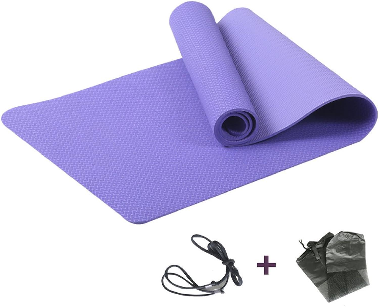 ANHPI Eco Friendly TPE Yoga-Matte 6mm   8mm Dick Mit Tragegurt Erweitert Und Verlngern Rutschfeste Tragbare Fitness Pilates Isomatte,lila-L72inW31.5inH0.31in