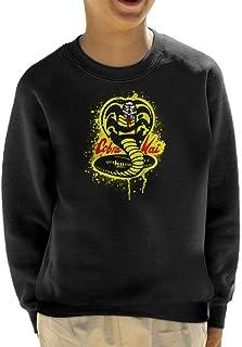 Cloud City 7 Strike First Cobra Kai Snake Logo Kid's Sweatshirt