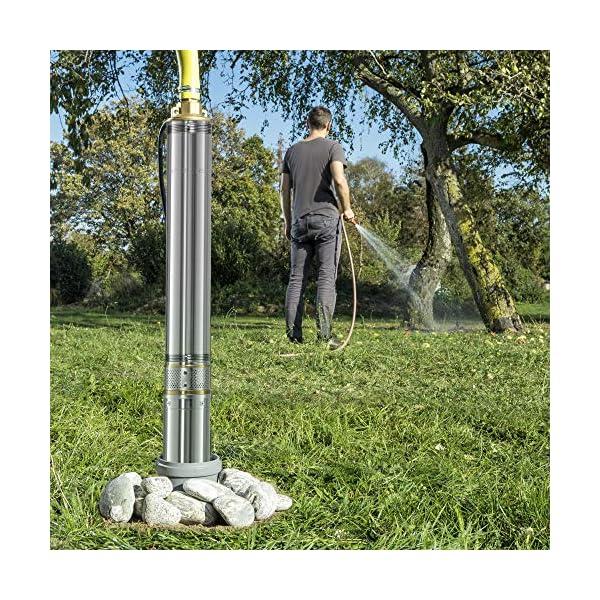 TROTEC Bomba para Pozo Profundo TDP 7500 E, 1.500 W, Profundidad de hasta:20 m, Jardín, Hogar