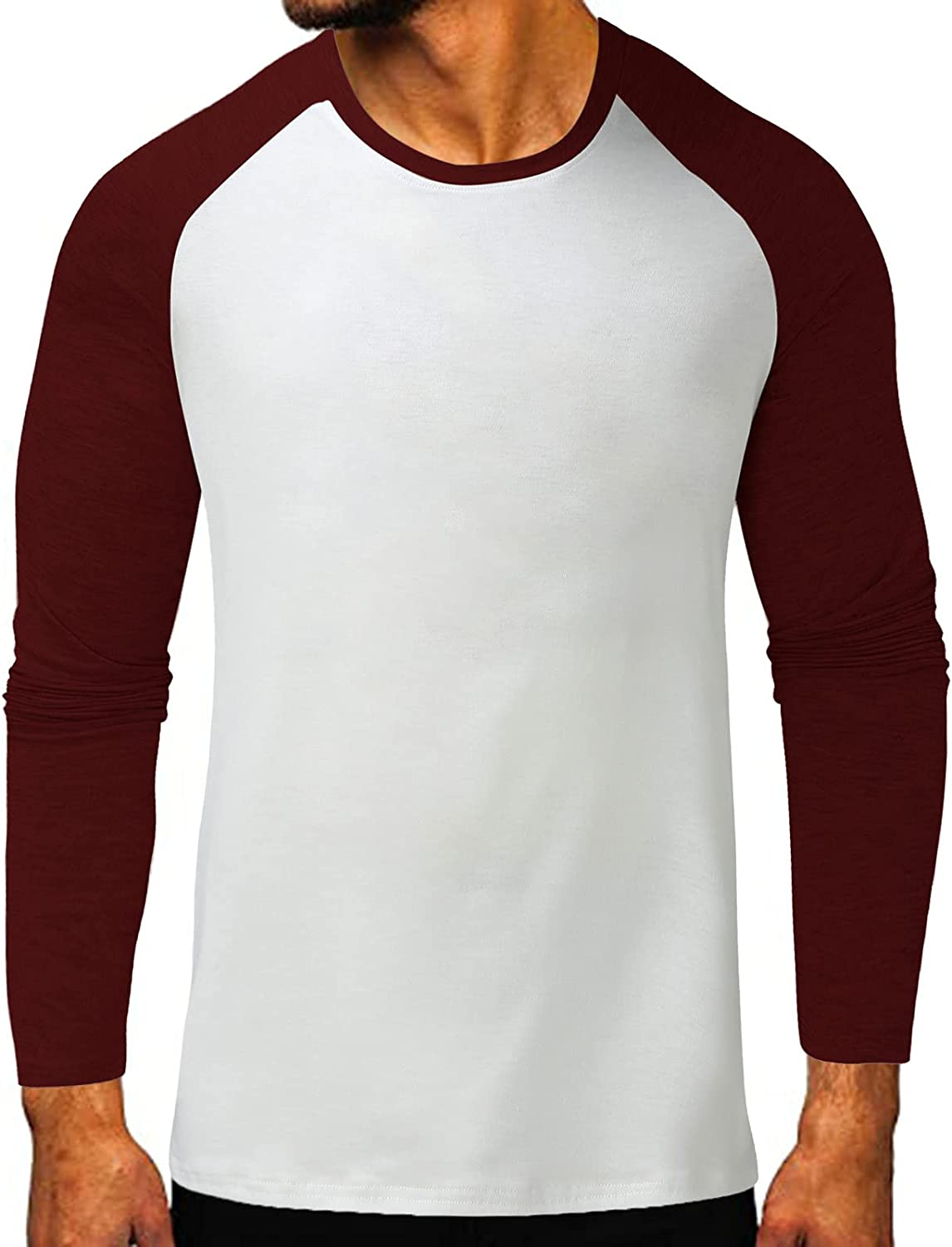 WoCoo Mens Henley T-Shirt Solid Long Sleeve Pollover Tops Gym Muscle Button Down Blouse Casual Slim Workout Tops