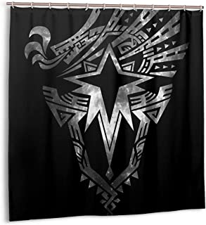 CaXersy Shower Curtain Monster Hunter World Iceborne - Logo 72x72 Inches Waterproof Fabric Polyester with Hooks for Bathroom Decor Plastic