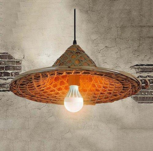 Retro henneptouw kroonluchter kroonluchter kroonluchter kroonluchter kroonluchter kroonluchter hanglamp E14 (zonder lichtbron) (kleur: B)