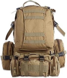 Wealthgirl Mochila militar, al aire libre, 50 L, MOLLE, gran capacidad, táctica militar, mochila militar para senderismo, camping, senderismo, caza