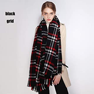 Fashion Scarf, Women Tartan Men and Women Scarf Luxurious Touch to Any Outfit Scarves for Beaches Walks Tours Cold Mornings (A Variety of Styles),J
