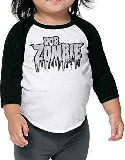 Matta Kids Rob Zombie Raglan Baseball T Shirt for Girls & Boys Black