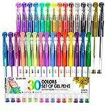 Colored Pens 30 Psc Glitter Gel Pens for Kids Colorful Pens for Spirograph Deluxe Design Set