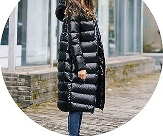 White Duck Down Parkas Down Jacket Ladies Wadded Coat Warm Waterproof Zipper