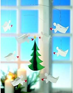 Angels of Love 8 Hanging Mobile - 22 Inches - Handmade in Denmark by Flensted