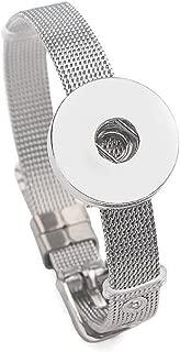 Stainless Steel Snap Charm Bracelet