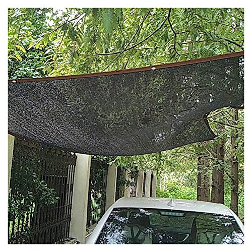 CAIJUN Toldo Vela De Sombra De Pérgola, Pabellón Parasol Hecho De HDPE, Efecto Protector Solar del 90% Resistente Al Polvo Y Al Viento, Personalizable (Color : Black, Size : 6x8m)