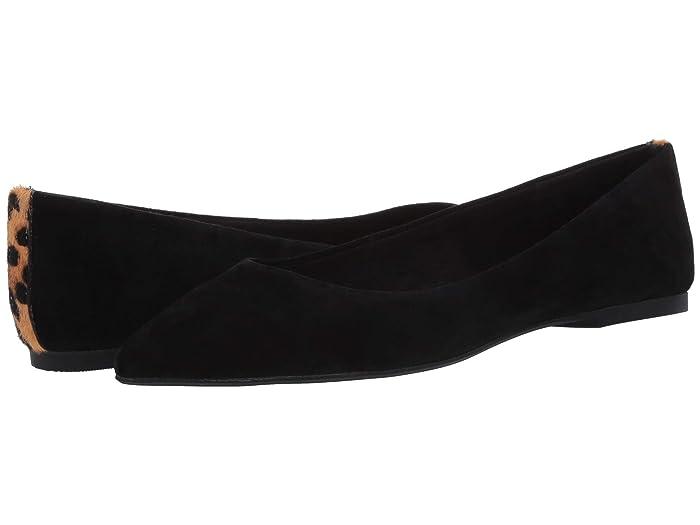 Steve Madden  Adley Flat (Black Suede) Womens Flat Shoes
