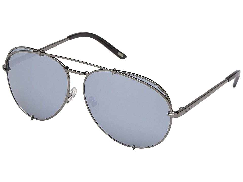DIFF Eyewear Koko (Gunmetal/Silver) Fashion Sunglasses, Gray