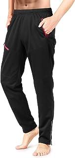 Men's Windproof Cycling Pants Thermal Polar Fleece Athletic Pants for Biking Running Hiking Outdoor Activities