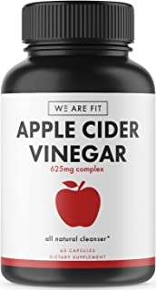 Apple Cider Vinegar Supplement - Supports Weight Loss, Detox, and Digestion Efforts. Help Boost Metabolism - Powerful Cleanser & Detox to Support Overall Health - 625mg Complex, 60 Veggie Caps