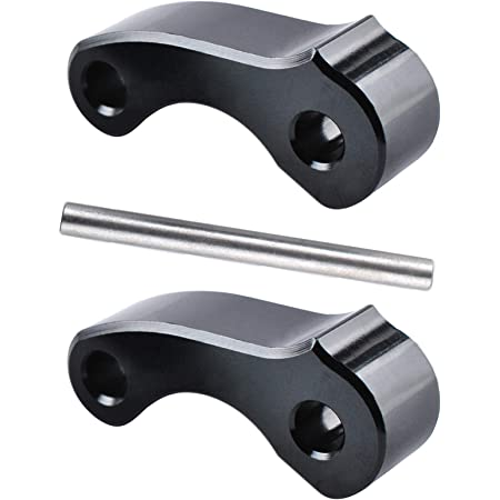 Htostar Racing Aluminum Rear Window Latch Hinge Pivots Compatible for 95-04 Tacoma 00-06 Tundra Xtracab Black 2 pcs