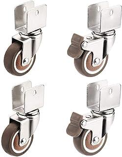 4 stuks wielen, meubelwielen, rubberen wielen, U-vormige wielen, stofbescherming, slijtvast, niet gemakkelijk vervormd (gr...