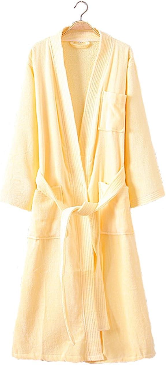Cahayi Womens Robe Soft Cotton Lightweight Spa Kimono Bathrobe Nightgowns Long