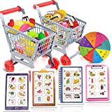 Gamie Shopping Cart and List Game for Kids - Fun Game with Pretend Play Shopping Carts and Groceries - Develops Social Skills and Reasoning - Cool Educational Learning Game for Boys and Girls