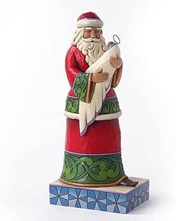 Enesco Jim Shore Heartwood Creek Santa Holding Baby Jesus Figurine, 10-Inch
