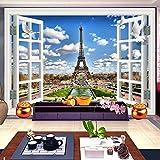 ZLYYH 3D Wallpaper Wandbild,3D-Fenster Landschaft, Blauen
