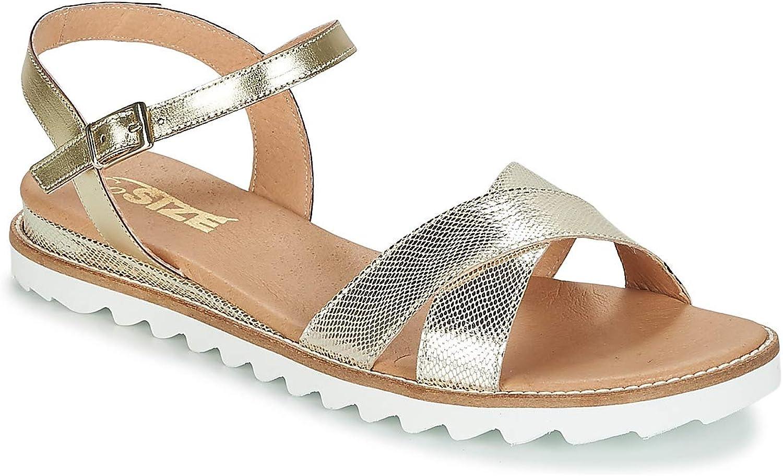 So So So Größe TENIPO Sandalen Sandaletten Damen Goldfarben Silbern Sandalen Sandaletten  0949dc