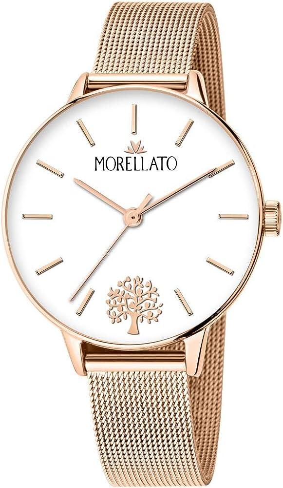 Morellato, orologio analogico al quarzo per donna,in acciaio inossidabile, pvd oro rosa R0153141540