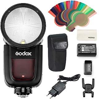GODOX V1S TTL Flash Cámara, Flash Inalámbrico Sony, Flash Electrónico TTL para Cámara Sony, 2.4G HSS 1/8000s HSS Flash Spe...
