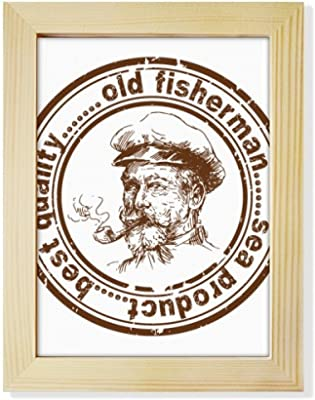 DIYthinker Old Fisherman Captain Classic Country City Desktop Wooden Photo Frame Picture Art Painting 6x8 inch