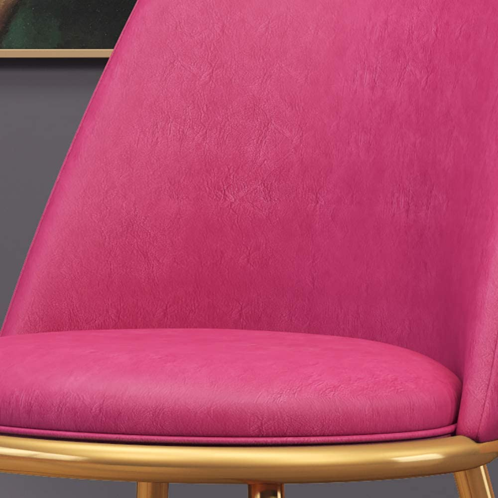 YYWDP Cuisine Chaise De Salle À Manger Retro Chaises De Salon en Métal Et Chaise Tulipe en Similicuir pour Le Bureau Et Le Salon Meubles De Maison (Bleu),F G