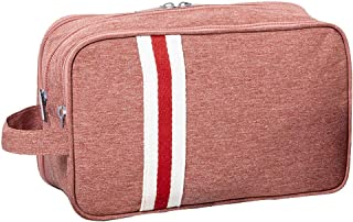 Choco Mocha Women Bathroom Travel Toiletry Bag Cosmetic Bags Organizer for Woman with 3 Zipper Compartment Grooming Makeup Toiletries Accessories for Traveling Gifts, Pink