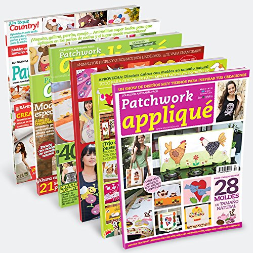 Pack Oferta 6 revistas Patchwork Applique + 1 tela 50 * 50 cm de regalo